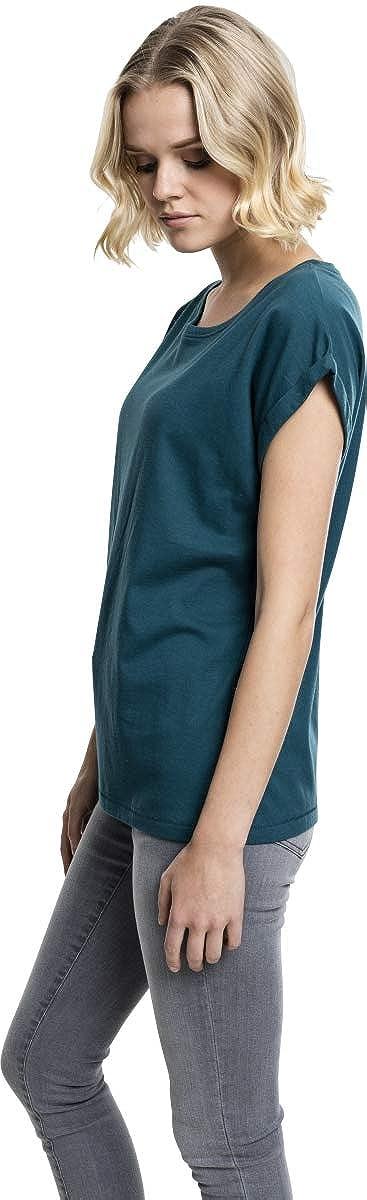 Urban Classics Damen T-Shirt Ladies Extended Shoulder Tee Gr/ö/ße L Farbe teal