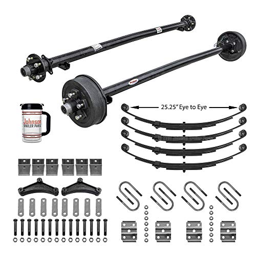 Rockwell American Tandem 3,500 lb Trailer Axle Running Gear Set w/Hanger Kit (85