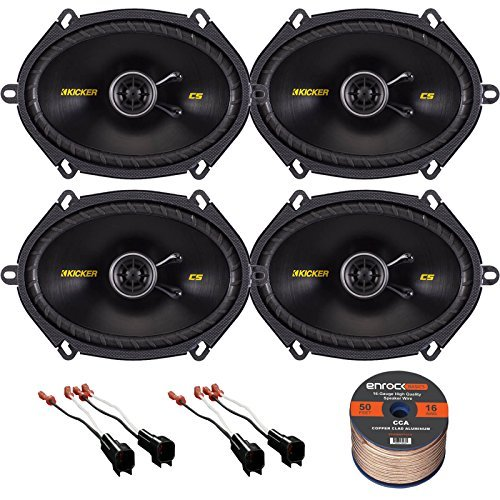Mazda Speaker (Car Speaker Set Combo Of 4 Kicker 40CS684 6x8