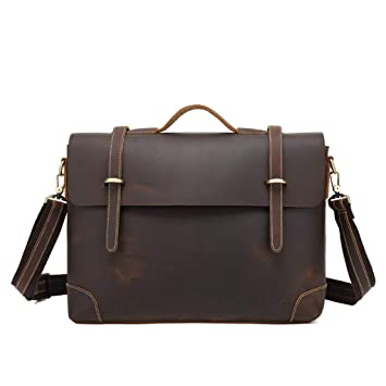 dd178970cbd4 Amazon.com: Gxinyanlong Men's Shoulder Bag Corporate Tote,Dark Brown ...