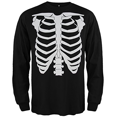 [Skeleton Glow In The Dark Costume Long Sleeve T-Shirt - 3X-Large] (Womens Skeleton Costumes Tshirt)