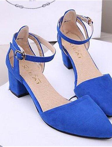 BGYHU GGX/Damen Schuhe Heels Synthetik Chunky Absatz Heels Heels Schuhe Party & Abend/Kleid Schwarz/Blau/Grün/Rot black-us8 / eu39 / uk6 / cn39 289e7f
