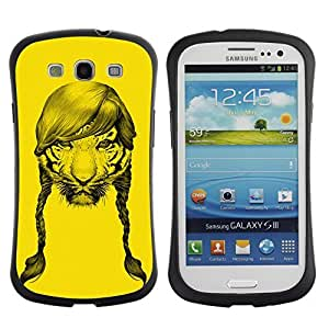 Hybrid Anti-Shock Bumper Case for Samsung Galaxy S3 / Tiger With Hair wangjiang maoyi