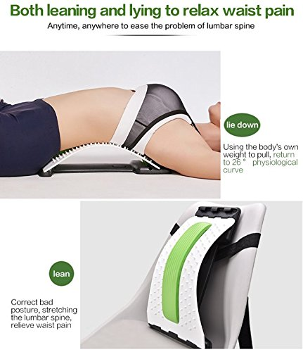 Best Arched Back Stretcher As Seen Doctors TV - CHISOFT (2nd Edition) Lumbar Stretching Device + Extra Cushion Foam + Trigger Point Massage Ball, Improve Posture, Sciatica Back Pain Relief by CHISOFT (Image #7)