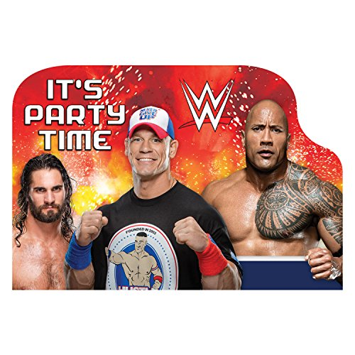 (Amscan WWE Postcard Invitations, Party Favor 4 1/4