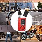 BTIHCEUOT-Lucchetto-a-Catena-per-Bici-Y797G-Lucchetto-a-Catena-per-Bicicletta-Bluetooth-Impermeabile-Intelligente-Antifurto-Lucchetto-di-Controllo-per-Smartphone-Rosso