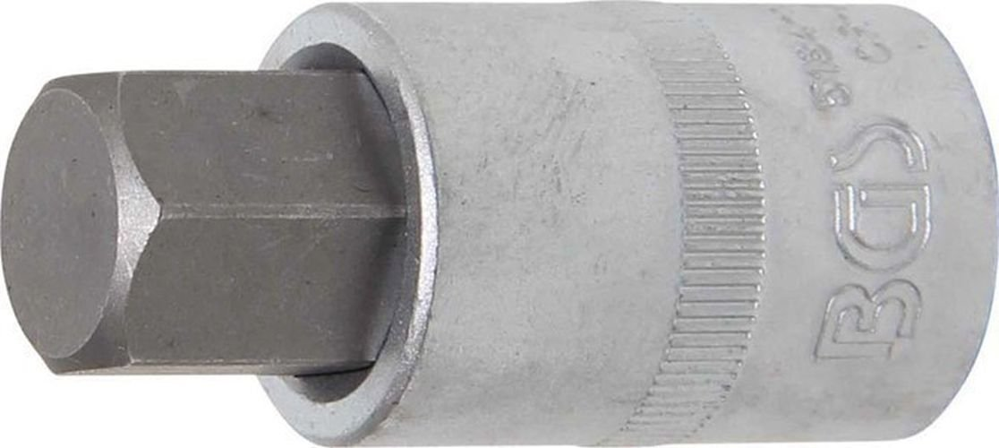 22x55 mm BGS 5184-H22 Bit-Einsatz 12,5 Innen-6-kant 22 x 55 mm 1//2