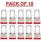 Beisen Hardware (TM) Padlock BOX of 10!!! Long Shackle (1 7/8) Laminated Steel Keyed Alike (A389) Padlocks. Multipack Padlock by Beisen Harware