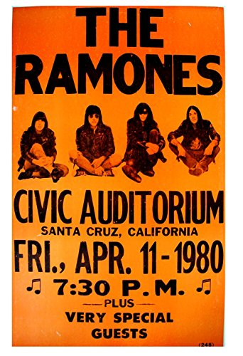 (Gatsbe Exchange The Ramones Musician Concert Poster Rock and Roll Legends Live Forever 12 X 18)