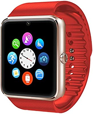 Original GT08 Reloj Inteligente Smartwatch Android rojo: Amazon.es ...
