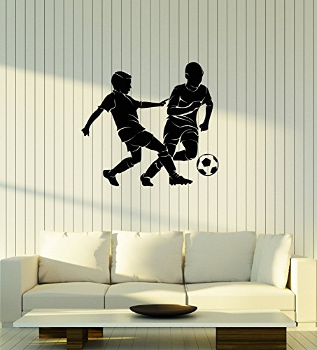 WallStickers4ever Vinyl Wall Decal Soccer Boys Silhouette Sports Kids Room Decoration Art Stickers Mural Large Decor (ig5554) by WallStickers4ever