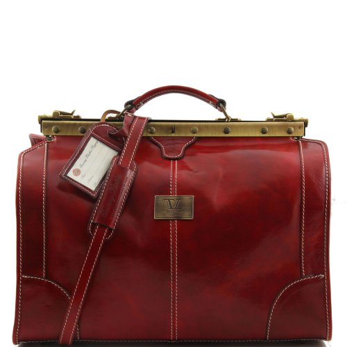 piel Tuscany rojo de al Bolso Leather para de rojo cerdo hombro hombre wqTAXqB