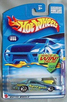2002 HOT WHEELS PRO STOCK FIREBIRD SPREE blue/purple