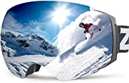 ZIONOR X4 Ski Snowboard Snow Goggles with Magnetic Dual Layer Lens for Men Women