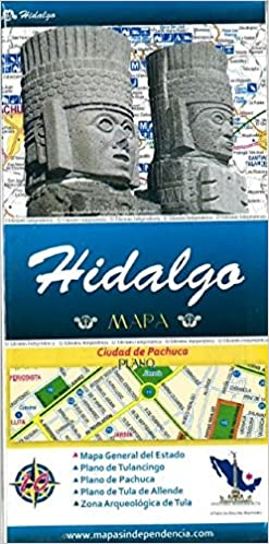 Hidalgo Mexico State And Major Cities Map Spanish Edition