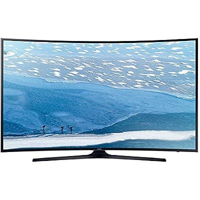 "Samsung UA-49KU7350 49"" UHD 4K Curved Multi-System Smart Wi-Fi LED TV 110-240 Volt w/ Free HDMI Cable"