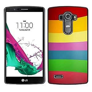 LECELL--Funda protectora / Cubierta / Piel For LG G4 -- Patrón de las líneas de color --