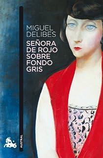 Señora de rojo sobre fondo gris par Delibes