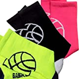Basketball Sock by ChalkTalk SPORTS | Athletic Mid Calf Woven Socks | Basketball Silhouette | Multiple Colors