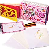 Great Gizmos Meadow Kids Mini Stencils Pack (Pink)