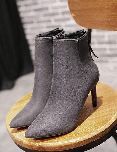 us5 Stiletto Cn35 Cn34 Ante us5 Negro Blue Uk3 Eu35 Xzz De 5 Eu36 5 Sintético Puntiagudos Vestido Uk3 A Moda Tacón Mujer Botas La Azul Gris Casual Black Zapatos qIwf4