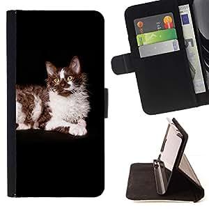 Momo Phone Case / Flip Funda de Cuero Case Cover - Ragdoll americana de pelo largo Curl Gato Negro; - Samsung ALPHA G850