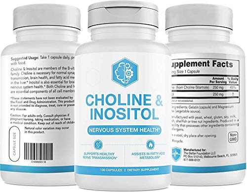 UMZU: Choline & Inositol - 30 Day Supply - Brain Health Supplement - All Natural Ingredients - Promotes Healthy Brain & Nerve Function - Helps Boost Mental Health