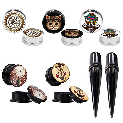 0g steampunk plugs - 8