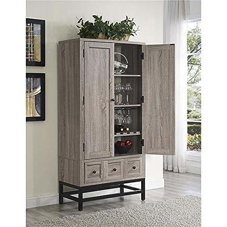 Amazon.com: Ameriwood HOME Barrett Home Bar Cabinet in Sonoma Oak ...