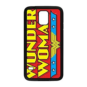 Samsung Galaxy S5 Cell Phone Case Black Wonder Woman Logo LV7975985