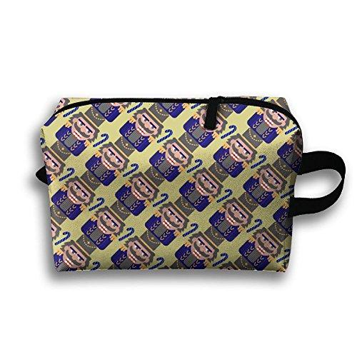 Ballet Nutcracker Make-up Travel Bag Cosmetic Bag Zipper Pouch Wear Resistance For Couple by Libra
