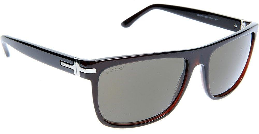 83dad79c30 Amazon.com  Gucci Sunglasses GG 1027 S 80670 Acetate Dark Olive Brown  Shoes