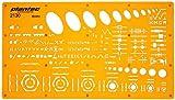 Mechanical Engineering Ellipse Screws Nuts Symbols Drawing Template Stencil