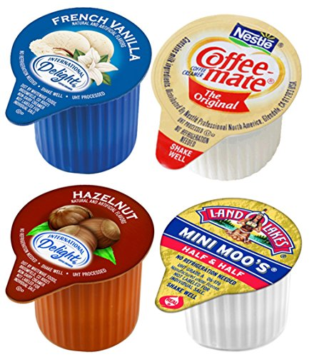 Coffee Creamers Variety Bulk Sampler Pack, Single Serve Cups (200 Count)