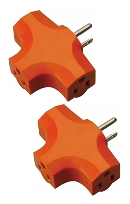 Amazon.com: 2Pk Of 3 Way Outlet Wall Plug DURABLE Adapter (T Shaped ...