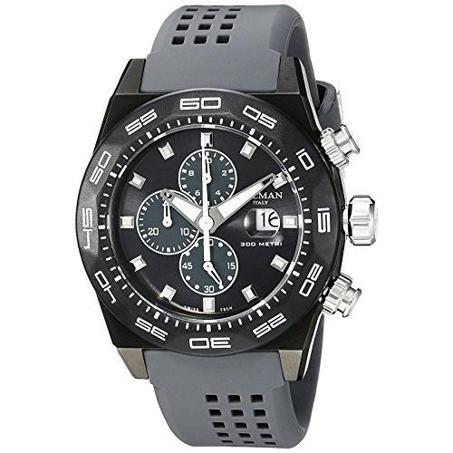 Locman Italy Men's 0217V3-GKGYNKS2A Stealth 300 Metri Analog Display Quartz Grey Watch by Locman Italy