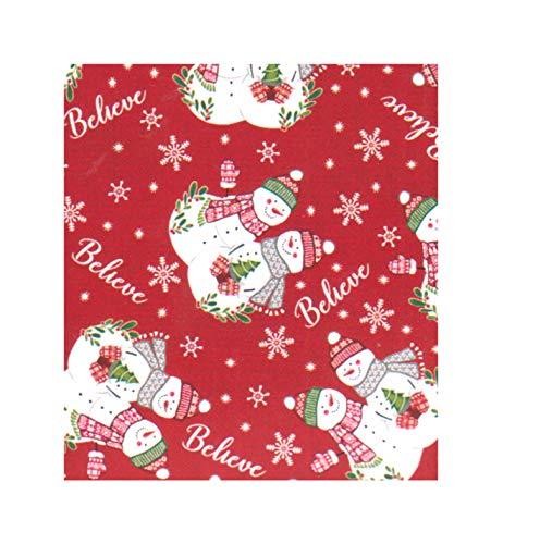 (Winter Wonder Lane Christmas Tablecloth, PEVA Vinyl Flannel Backed, Snowman Friends Believe (60)