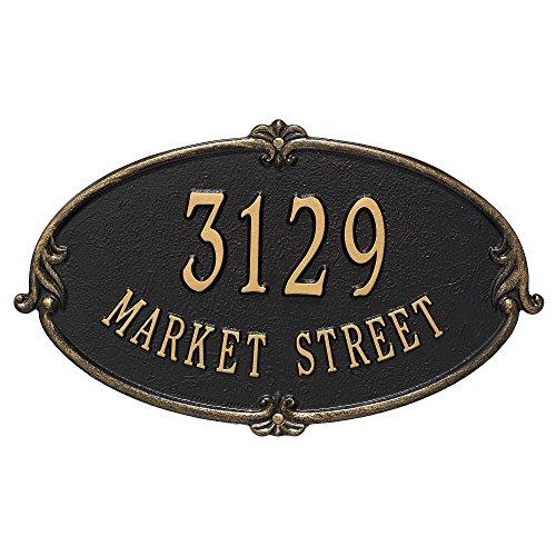 "Custom Monte Carlo Standard Wall Address Plaque 16""W x 10""H (2 Lines) (Wall Address Plaque Standard)"