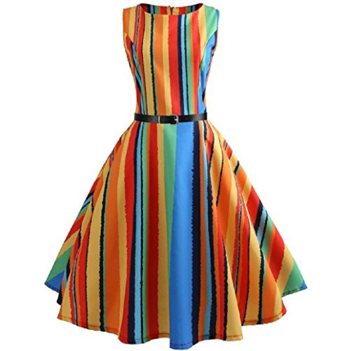 Chic Bodycon Cocktail Casual Vintage Robe Femme Swing Hepburn Multicolore Trapeze Manches Dress Moulante Mariage sans Floral Soire ImprimE LONUPAZZ xwAYzqaH