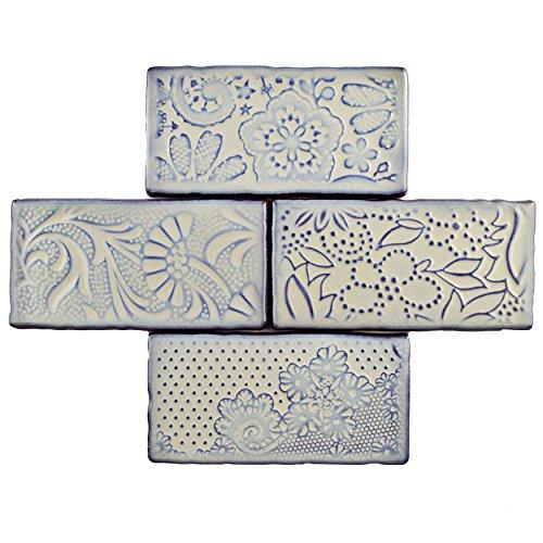 SomerTile WCVAFP Antigue Feelings Pergamon Ceramic Wall Tile, 3