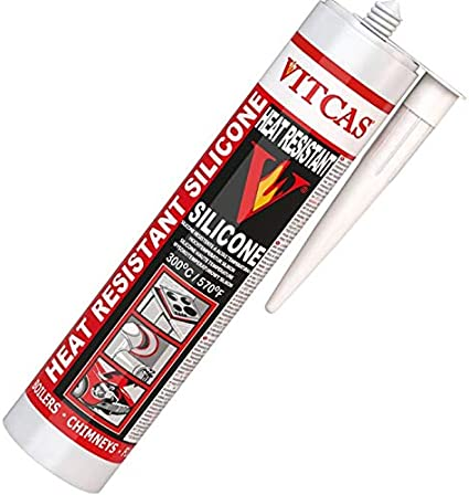Vitcas - Silicona de sellado resistente al calor (310 ml)