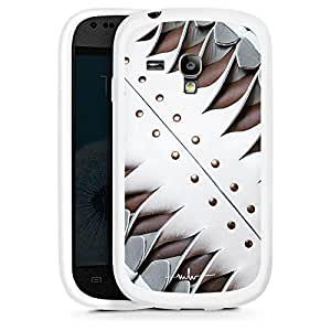 Silicona Carcasa blanco Funda para Samsung Galaxy S3 Mini - Shield