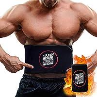 CybGene Waist Trimmer Trainer Sweat Sauna Corset Stomach Wrap for Weight Loss Men Women (Black,M)