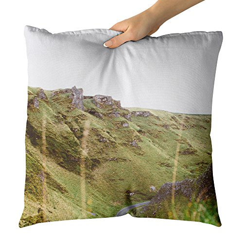 Westlake Art Decorative Throw Pillow - Peak District - Photography Home Decor Living Room - 18x18in (x8r-d89-e3a)