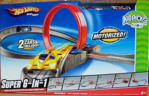 Hot Wheels KidPicks Super 6-in-1 Motorized Track Set