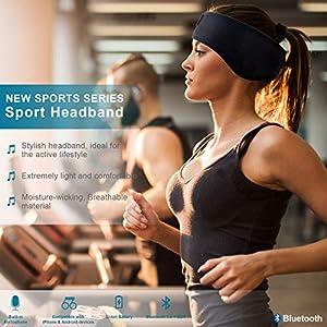 SKYEOL Bluetooth Headband Sleep Headphones, Wireless Bluetooth Sleeping Headband with Mic Built-in Stereo Speakers for Sleeping, Sports, Air Travel, Meditation and Relaxation