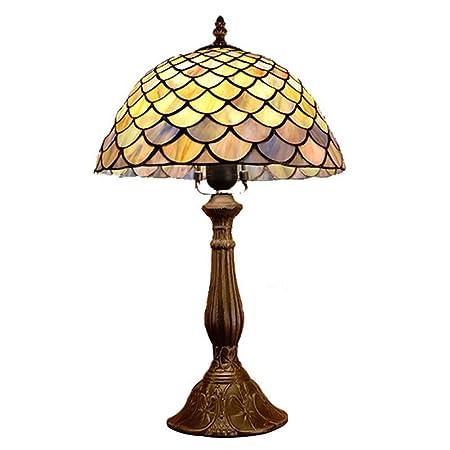 SXFYWYL Luz de Mesa Tiffany Creativa Lámpara de Escritorio Retro ...
