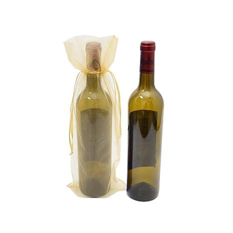 Aofocy 10 x Sheer Organza Bolsas de Regalo de Botellas de ...