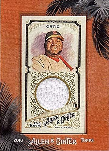 2018 Allen and Ginter Framed Mini Relics #MFR-DO David Ortiz MEM Red Sox Used Jersey Baseball Card from Topps