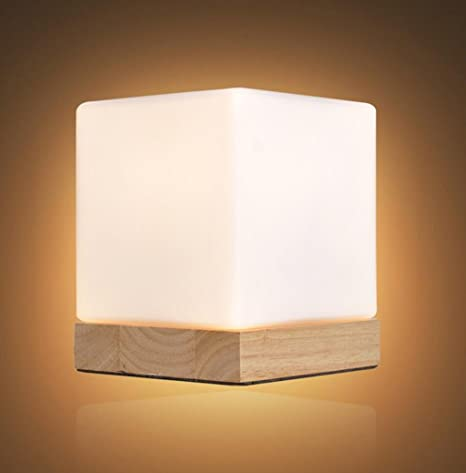 Bedroom table lamp square ice cubes table lamp wood night light bedroom table lamp square ice cubes table lamp wood night light table lamp bedroom bedside lamp aloadofball Choice Image